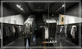 """【店鋪】他用40平米打造了一家服裝店,卻沒留試衣間&這家男裝店有點""""黑"""",還有點酷"""